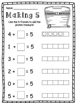 Friends of 10 and Friends of 5 : Making 10 and Making 5 Worksheet ...
