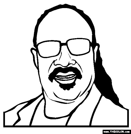 Stevie wonder, Online coloring and Coloring pages on Pinterest