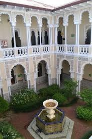 Asamblea Legislativa, congreso de la República. Edificio del Colegio Sión integrado al conjunto de inmuebles que hoy albergan el poder.
