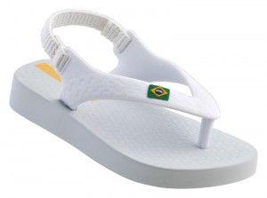 Chinelos IPANEMA - Brasil Baby White - HAVE! <3
