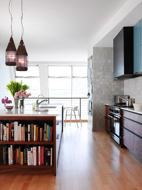 I really like this.: Living Room, Kitchen Design, Room Design, Open Kitchens, Chic Kitchen