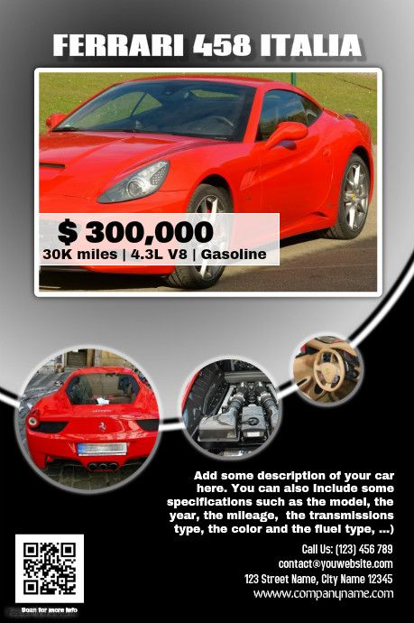 Car Sale Flyer Template Blackpostermywallindex – Template for Sale of Car