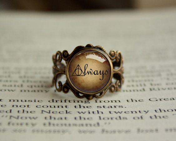 À la main Antique Vintage Style Harry Potter Snape par RingsCrafts, $19.20