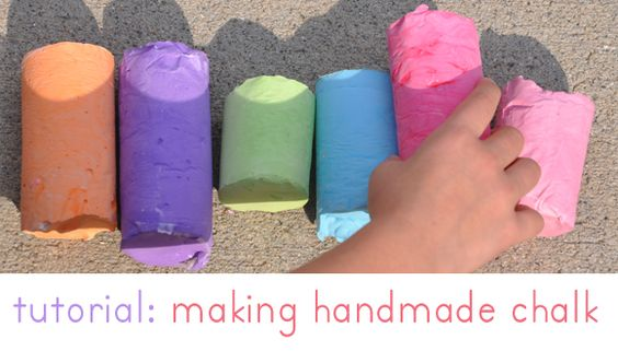 Home made sidewalk chalk- so cool!
