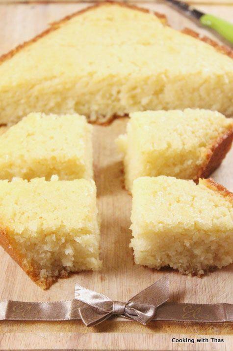... rose water jerusalem cake batter syrup vanilla baking lemon sugar
