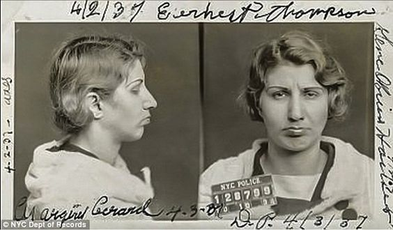Florence 'Cokey' Newman's mug shot from October 10, 1934. She testified against Lucky Luciano; false testimony that help convict Luciano of Prostitution.