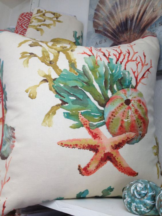 Tropical Watercolor Pillow 18 Quot Or 20 Quot Fabric Dye Nice