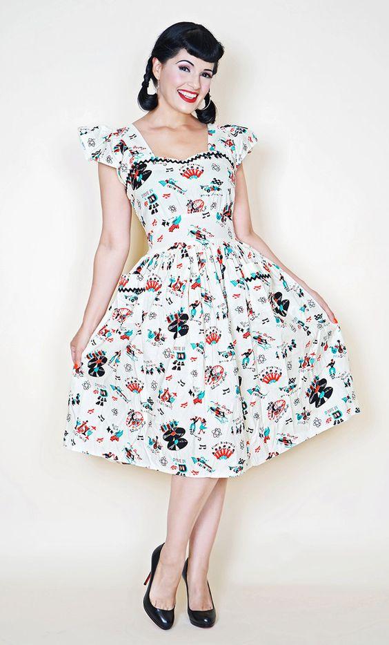 Loretta Dress in Atomic Print #1950s-pin-up #50s-dresses ...