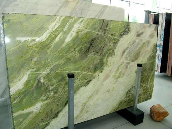 Green Water Marble Slabs : Spanish marbles and products on pinterest
