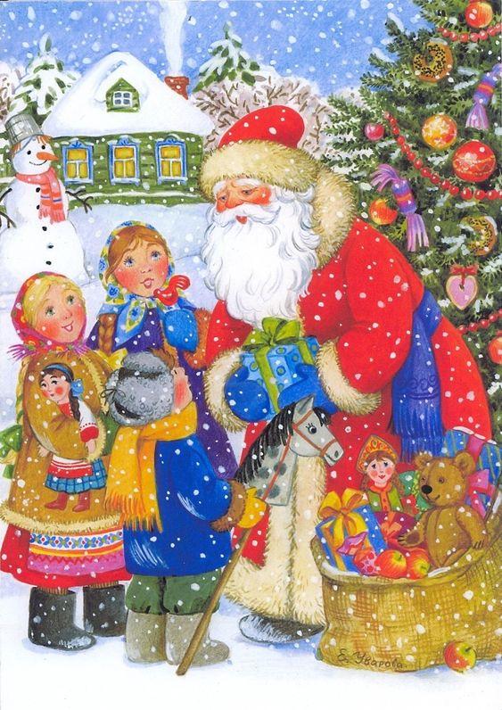 Иллюстрации Елены Уваровой: русская зима: