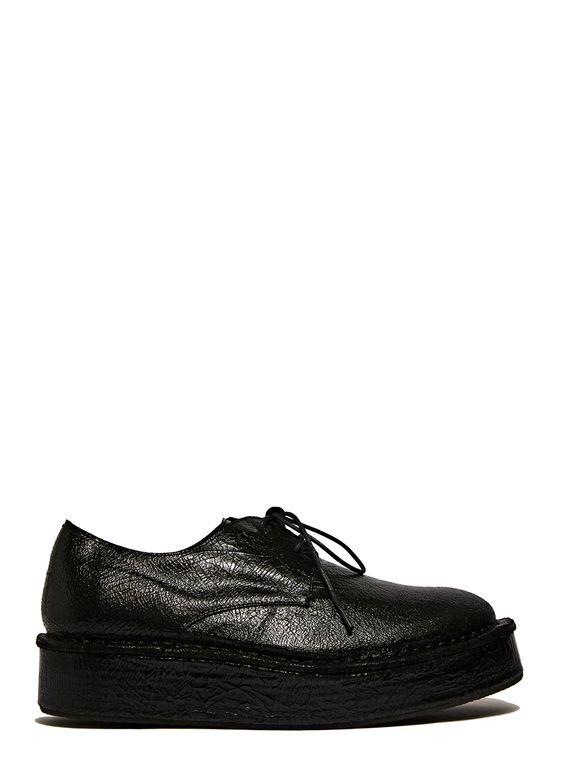 Barny Nakhle | Chunky Cracked Leather Shoes.