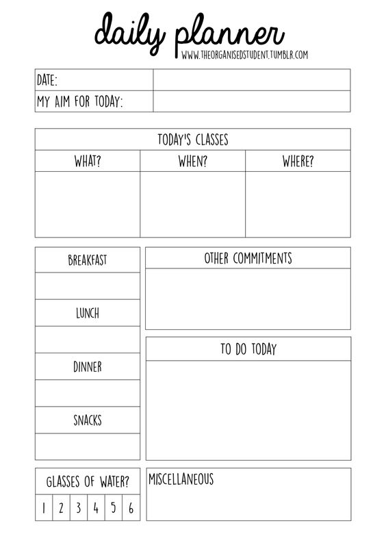 The Organized College Student \/\/ theorganisedstudent hey everyone - student agenda template