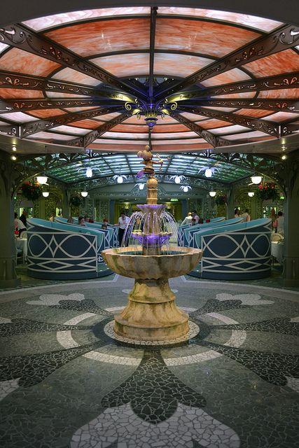 Disney Fantasy Enchanted Garden Restaurant Disney Disney And More Disney Pinterest