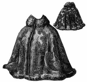 Ageless pattern. 1897 Cape with Fitted Back.