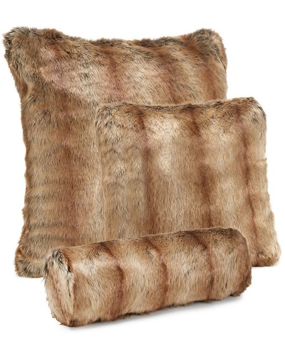 Fur Throw Pillow Covers : Fur pillow, Fur and Pillow cases on Pinterest