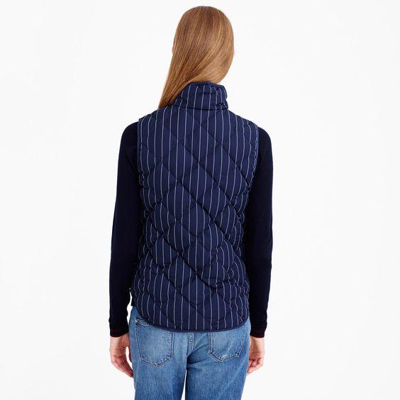 Excursion vest in pinstripe : outerwear & blazers | J.Crew