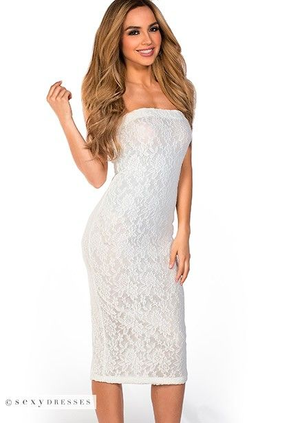 White Tube Top Dress - RP Dress