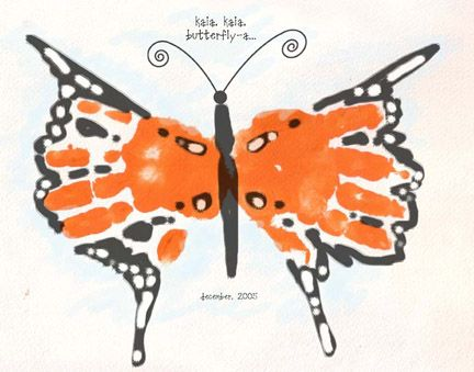 monarch butterfly.  must do this.: Art Idea, Butterfly Handprint, Handprintart, Handprint Craft, Kid Craft