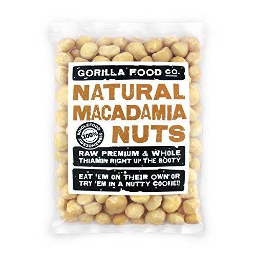 Gorilla Food Co Raw Macadamia Nuts Whole Style 1 Unsalted 8oz Resealable Bag Macadamia Nuts Macadamia Gourmet Recipes