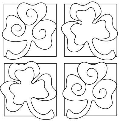 Coloring Four Leaf Clover And Clovers On Pinterest