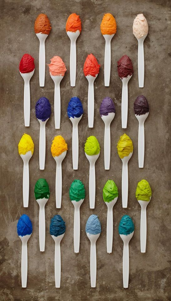 A spoonful of color...