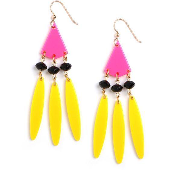 BaubleBar Neon Nicks Fringe Earrings ($38) ❤ liked on Polyvore