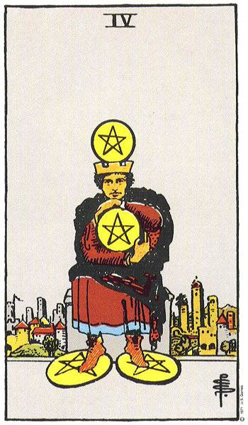 4 of Pentacles (March 10th 2016 Daily Draw)