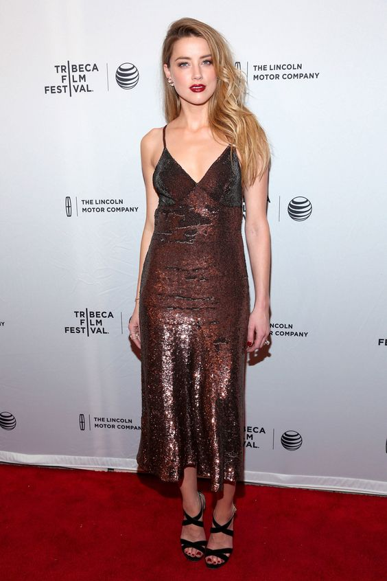 Amber Heard in Temperley London - At the When I Live My Life Over Again premiere