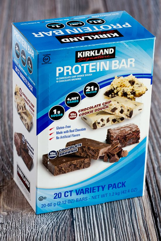 Kalyn's Kitchen Picks: I'm currently smitten with these Kirkland Protein Bar; click to the blog and read about why I like them so much! [found on KalynsKitchen.com]