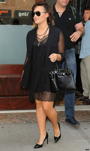 Demi leaving hotel in NYC