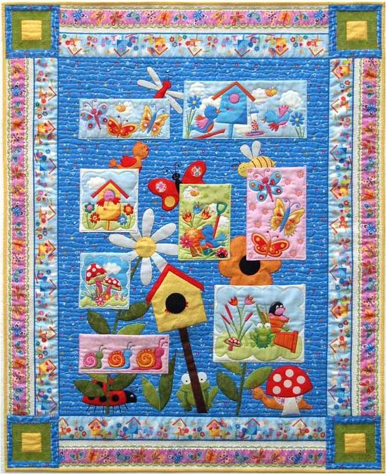 *free* pattern: Bug-a-Boo quilt by Hilary Gooding, in our free pattern collection for bird houses: