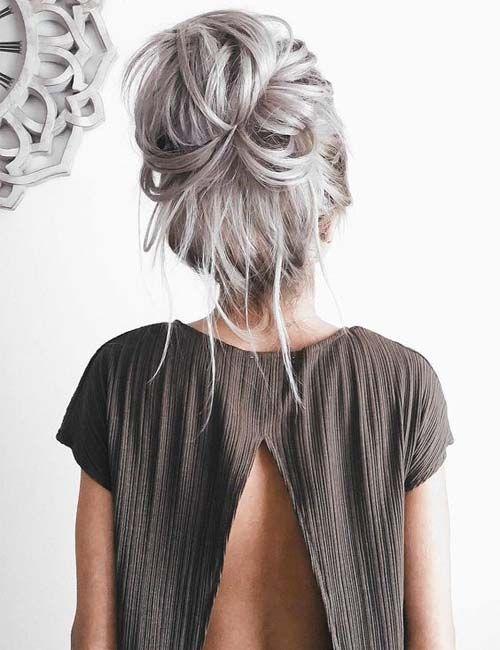 Christmas Party Bun Hairstyle 2018 Modren Villa Hair Styles Long Hair Styles Silver Hair Color