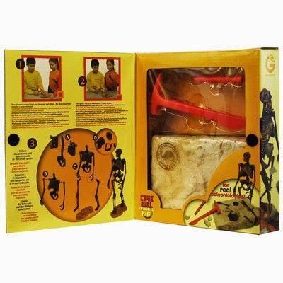 Kit de excavación Homo Neanderthalensis, juega a ser un pequeño paleontólogo.