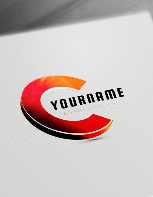 3d Logo Maker Letter C Logo Creator Free Online Logo Maker And Download Logo Maker Online Logo 3d Logo