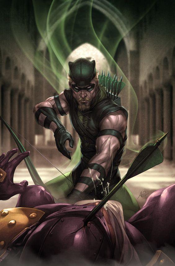 JL Rise and Fall: GREEN ARROW by `Artgerm on deviantART