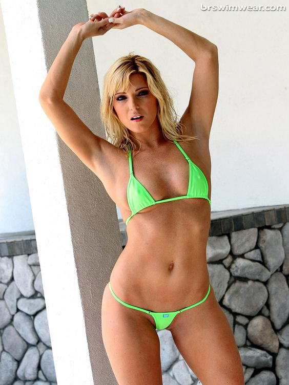 Green bikini, Micro bikini and Blondes on Pinterest