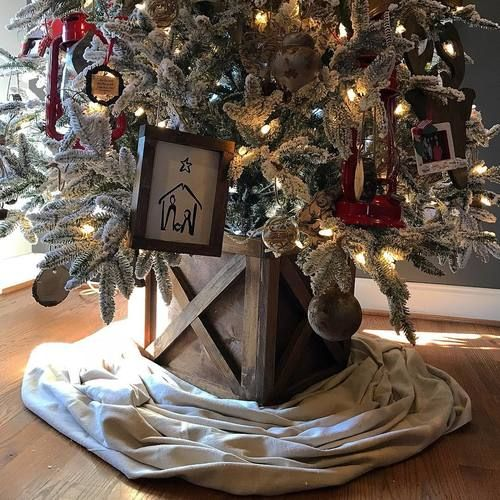 Farmhouse Christmas Tree Box Christmas Tree Box Farmhouse Christmas Tree Christmas Decor Diy