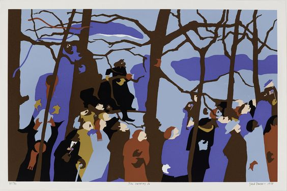 "JACOB LAWRENCE, ""The Swearing In,"" 1977 (silkscreen). 