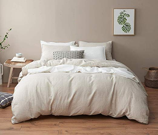 Amazon Com Dapu Pure Linen Duvet Cover Stone Washed European Flax Full Queen Natural Linen Duvet Cover A In 2020 Quality Duvet Covers Linen Duvet Linen Duvet Covers