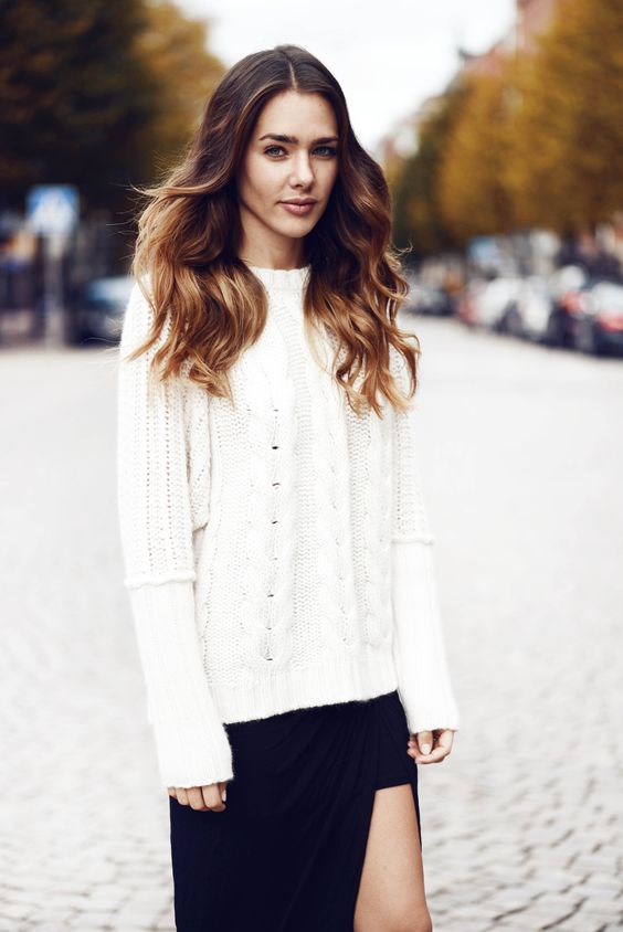Noir et blanc #inspiration #FranckProvost #parisienne #parisiangirl #glamour #chic #tendance #mademoiselle #provost Inspiration Franck Provost
