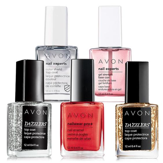 Show off and create nail envy! From base coat to top coat, and three fabulous shades in between. A $31 value, the set includes: Color Shield Top Coat - .4 fl. oz. A $6.50 value. Gel Strength Base Coat - .4 fl. oz. A $6.50 value. Nailwear Pro_ Nail Enamel / Real Red - .4 fl. oz. A $6 value. Dazzlers Top Coat / Disco Ball - .4 fl. oz. A $6 value. Dazzlers Top Coat / Glitzy Gold - .4 fl. oz. A $6 value.