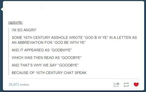 Why we say goodbye