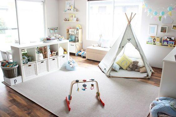 Desain kamar tidur anak dengan tempat bermain
