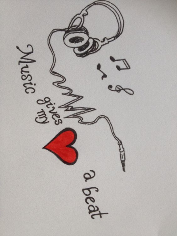 Music gives my heart a beat! <3