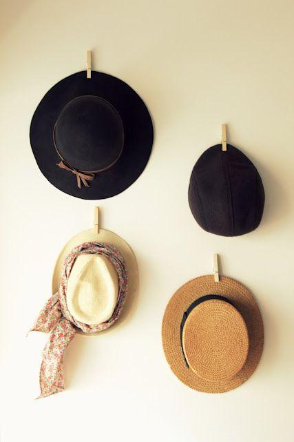 fácil solución para colgar sombreros