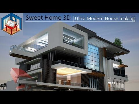 Ultra Modern House Designing In Sweet Home 3d Youtube Modern