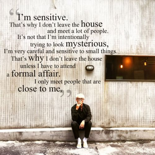 Who would have thought TOP was introverted. We got something in common then :)