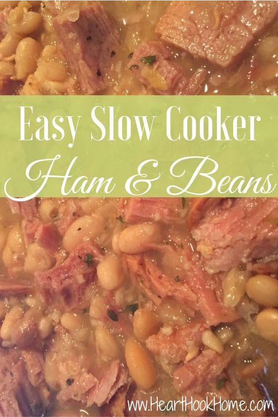 Throw it in the Crock-Pot Ham & Beans