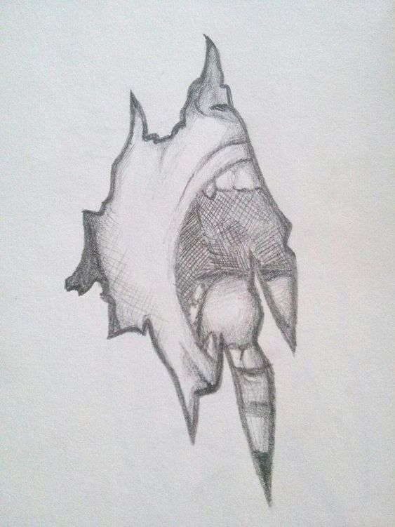 Drawing Ideas Dark Art Drawings Art Drawings Sketches Scary Drawings