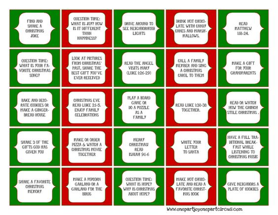 Kids Christmas Calendar Ideas : Advent daily activities free printables for your